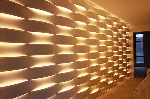 Mold for 3D panel LED Wave